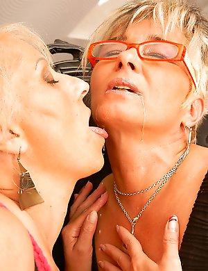 Three mature lesbians making it big