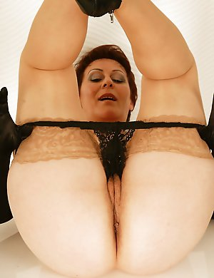 Naughty European housewife pleasing herself